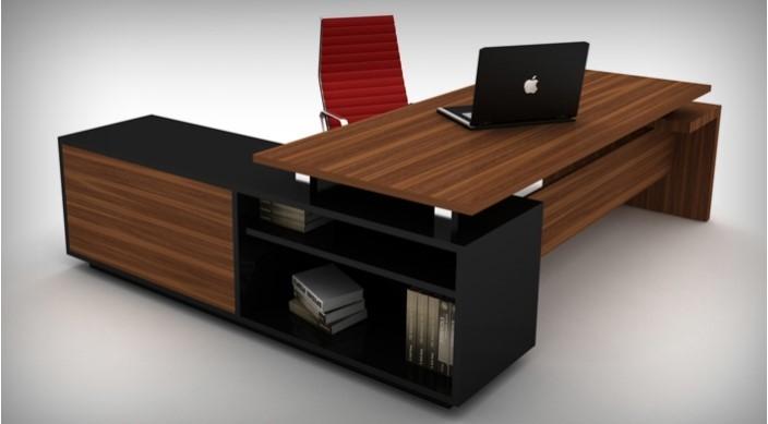 میز اداری شامل میز مدیریت، میز کارمندان، میز کنفرانس و کانتر است.