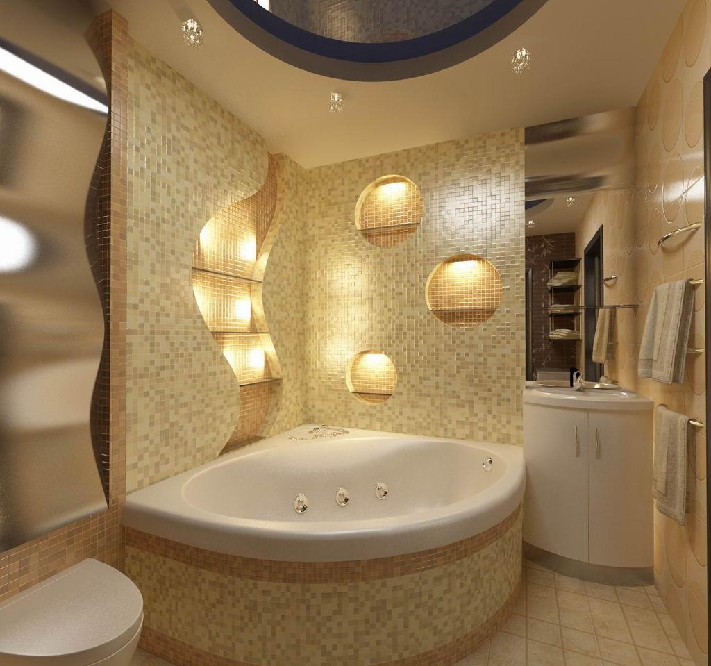 برای نورپردازی حمام از سه روش فعالیتی، تاکیدی و محیطی استفاده می شود.