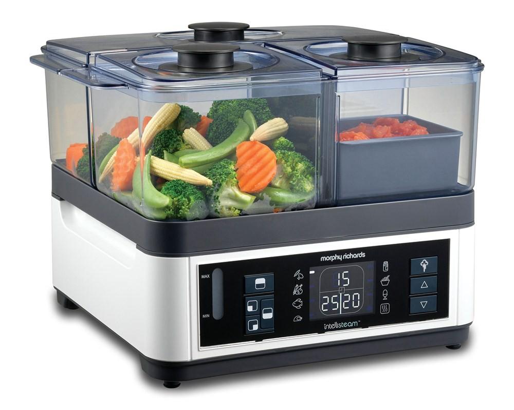 از دیگر لوازم برقی که در آشپزخانه کاربرد زیادی دارد می توان به بخارپز اشاره کرد